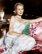 Gold Necklace Prints - To Catch A Thief, Grace Kelly, 1955 Print by Everett