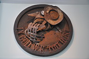 Rust Sculpture Metal Prints - To Coin A Phrase Metal Print by Michael Jude Russo