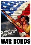 American Flag Art Prints - To Have And To Hold Print by War Is Hell Store