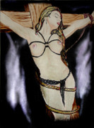 Crucifix Paintings - To Heaven by Tbone Oliver