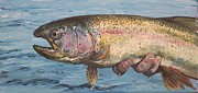 Flyfishing Prints - To hold a Rainbow Print by Scott Thompson
