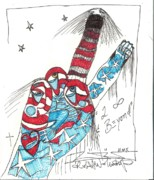 Art Brut Drawings - To Infinity And Beyond by Robert Wolverton Jr