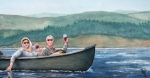 Canoe Painting Posters - To Life Poster by Gale Cochran-Smith