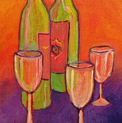 Wineglasses Paintings - To Life by Nancy Matus