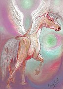 Horse Drawing Mixed Media Prints - To Light Print by Tarja Stegars