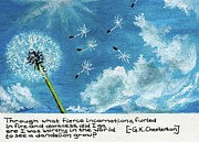 Dandelion Paintings - To See A Dandelion  by Bryana  Joy
