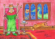 Nursery Rhyme Drawings - To See The Queen by Kerina Strevens