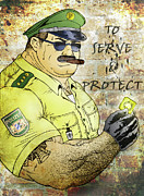 Sweat Digital Art Prints - To Serve And Protect Print by Bear Pictureart