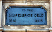 War Images Metal Prints - To the Confederate Dead Metal Print by John Rizzuto