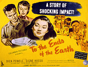 1940s Poster Art Photos - To The Ends Of The Earth, Dick Powell by Everett