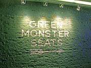 Ball Park Posters - To the Green Monster Seats Poster by Barbara McDevitt