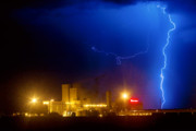 Lightning Images Photos - To The Right Budweiser Lightning Strike by James Bo Insogna