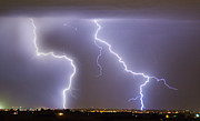Lightning Weather Stock Images Prints - To The Right Right To The Left left Print by James Bo Insogna
