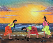 Chicana Mixed Media - To The Sea by Sonia Flores Ruiz