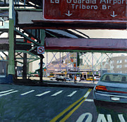 Cities Tapestries Textiles Originals - To The Triboro by Patti Mollica