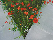 Poppies Field Painting Originals - To The World So Freely Given by Jane Autry