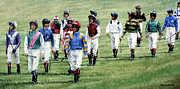 Jockey Paintings - To Their Mounts by Thomas Allen Pauly