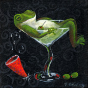 Martini Wall Art Paintings - Toadally Under The Influence by Debbie McCulley