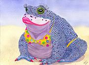 Toad Framed Prints - Toadaly Beautiful Framed Print by Catherine G McElroy