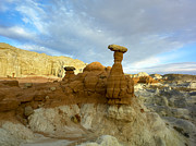 Escalante Grand Staircase Posters - Toadstool Caprocks Grand Staircase Poster by Tim Fitzharris