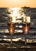 Wine Reflection Art Photos - Toast to the Evening by Jeramie Curtice