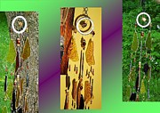 African Glass Art - Toasted Buckwheat Honey Feng Shui Glass Crystal Wind Chime by Karen Martel