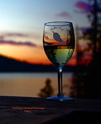 Blue Grapes Photos - Toasting a Beautiful Evening by Patrick Witz