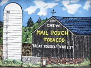 Barn Paintings - Tobacco Barn by Jeffrey Koss