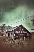 Telephone Lines Framed Prints - Tobacco Barn Framed Print by Jill Battaglia