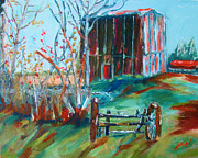 Old Barns Painting Prints - Tobacco Barn Johnston County  North Carolina Print by Joe Byrd