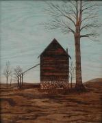 Barn Art Pyrography Prints - Tobacco Barn Print by Phillip H George