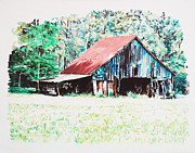 Dilapidated Farm Originals - Tobacco Barn by Tommy Midyette