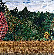 North Carolina Paintings - Tobacco Field at Old Milburnie Road by Micah Mullen