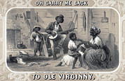 African American Family Prints - Tobacco Package Label Showing African Print by Everett