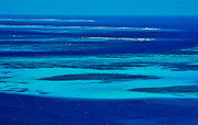 Tobago Cays In Blue Print by Don Schwartz
