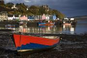 Docked Boats Prints - Tobermory, Island Of Mull, Scotland Print by John Short