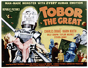 1950s Poster Art Framed Prints - Tobor The Great, 1954 Framed Print by Everett