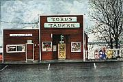 Tavern Posters - Tobys Poster by Perry Woodfin