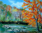 River Pastels Prints - Toccoa River Print by Pete Maier