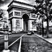 Bnw Art - #today #paris #monument #bnw #monotone by Ritchie Garrod