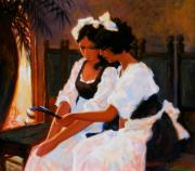 Waitresses Framed Prints - Todays Special Framed Print by Kevin Lawrence Leveque