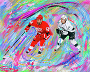 Hockey Painting Prints - Todd Bertuzzi Print by Donald Pavlica