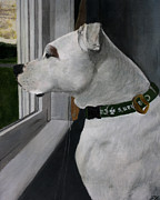 Mastiff Dog Paintings - Todd by Patrick Kelly