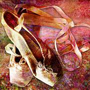 Laces Digital Art - Toe Shoes by Barbara Berney