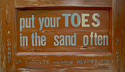 Word Paintings - Toes in The Sand by Patti Schermerhorn