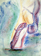Dance Shoes Drawings Prints - Toes Print by Shelley Bain