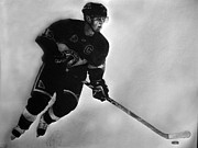 Nhl Drawings Prints - Toews Print by Adam Barone