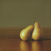 Pear Pastels Prints - Together Print by Barbara Groff