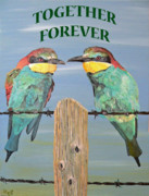 Greetings Card - Together Forever by Eric Kempson