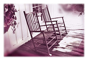 Rocking Chairs Photo Prints - Together Forever Print by Mal Bray